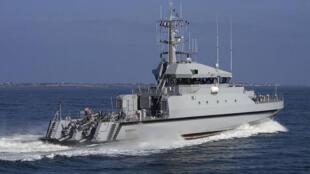 Le Kedougou, l'un des patrouilleurs de haute mer utilisés lors de la mission de surveillance de la pêche au large des côtes sénégalaises.