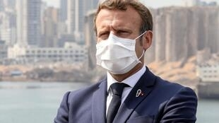 Emmanuel Macron atafanya ziara ya siku moja nchini Iraq baada ya ziara yake nchini Lebanon (hapa, ilikuwa Beirut, Jumanne, Septemba 1, 2020).