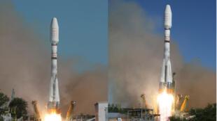 """Старт ракеты-носителя """"Союз"""", который вывел на орбиту шесть американских космических аппаратов «Globalstar-2», сконструированных в Европе."""
