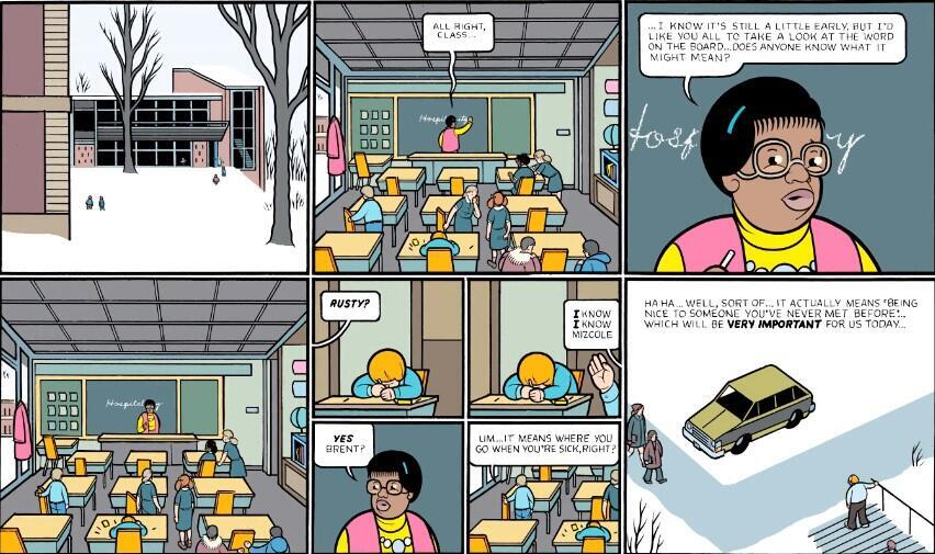 Rusty Brown, a teacher in the midwest, is one of Chris Ware's key protagonists