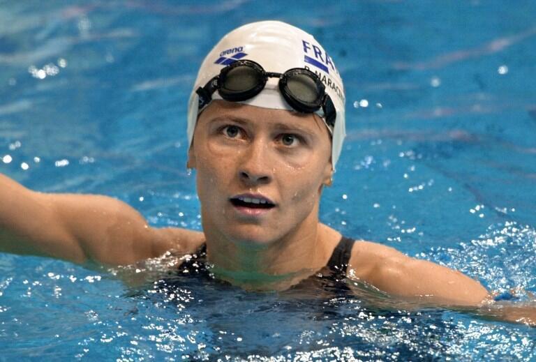 Roxana Maracineanu à Sydney, lors des Jeux olympiques 2000.