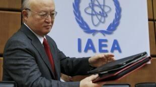 Yukiya Amano, président de l'Agence internationale de l'énergie atomique (AIEA)