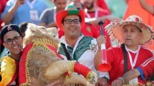 Les fans marocains ont répondu présents face à la Namibie, lors du premier match du groupe D de la CAN 2019, au Caire, le 23 juin 2019.