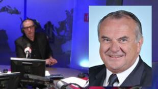 Frédéric Rivière (G) et  le député UMP Alain Marsaud, en médaillon(D).