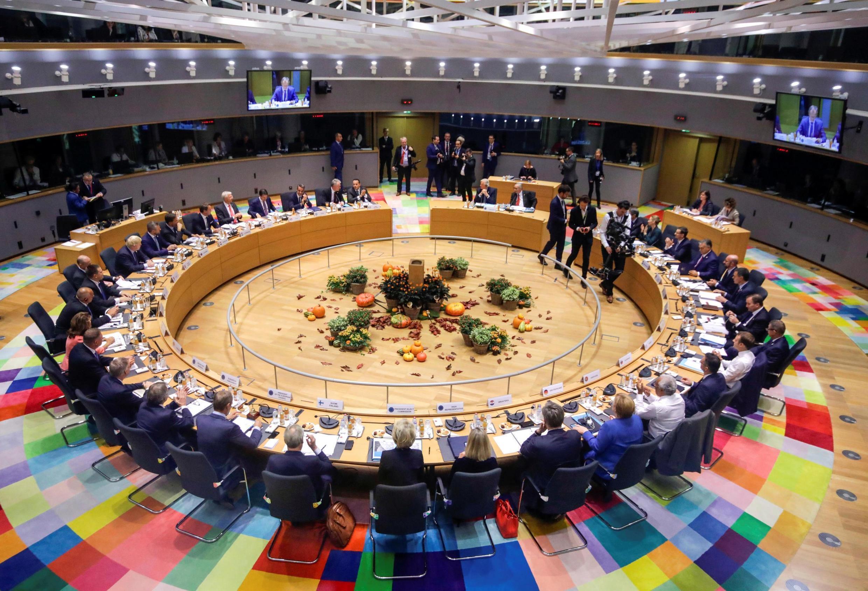 Лидеры стран-членов ЕС на саммите в Брюсселе, 17 октября 2019