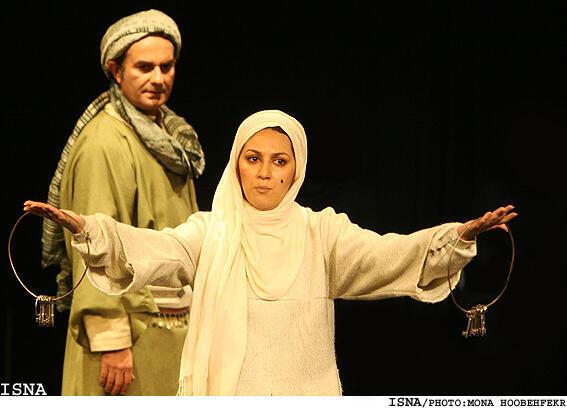 بازی ستاره اسكندری در یک تئاتر