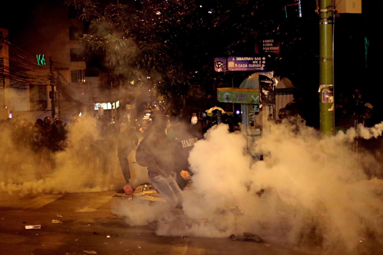 Riots in the Bolivian capital La Paz on 23 October, 2019.