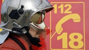 A firefighter in Nimes, France on November 5, 2014.