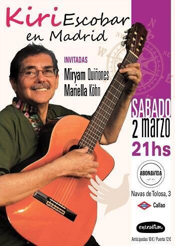 Cartel de un reciente concierto en Madrid