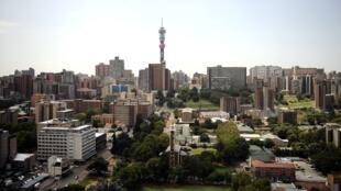 Imagem do centro de Johannesburgo.