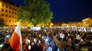 波蘭示威民眾  2017年7月20日