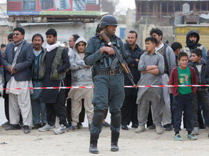 پلیس افغان در کابل