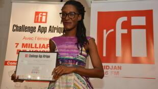 Raissa Banhoro et son application «Lucie» ont été récompensées par le prix «RFI Challenge App Afrique».