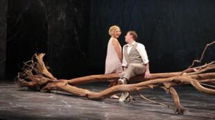 Une scène de l'opéra «The Rake's Progress », mise en scène par David Bobée.