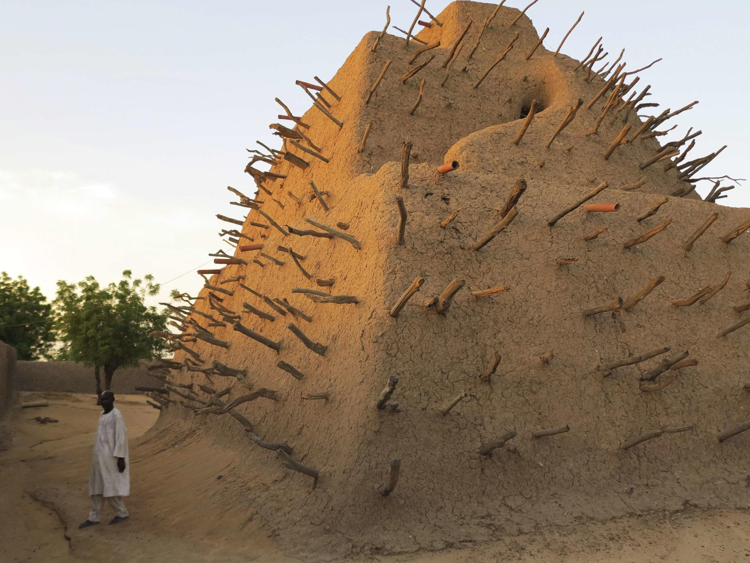 UNESCO says the Tomb of Askia in Gao is in a poor state of disrepair.