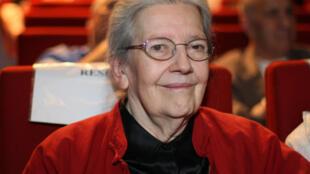 Josette Audin, l'épouse du mathématicien et militant communiste Maurice Audin, disparu à Alger après avoir été arrêté par des militaires français en 1957. Photo prise le 21 juin 2007 à Paris.