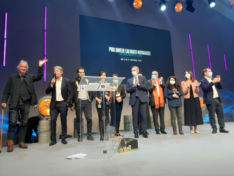 Cérémonie de clôture du 27e Prix Bayeux-Calvados des correspondants de guerre, le 10 octobre 2020.