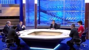 Дмитрий Медведев и журналисты российских телеканалов