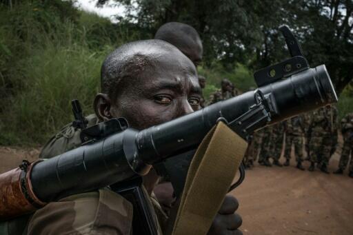 Un militaire des Forces armées centrafricaines lors d'un exercice. (Image d'illustration).