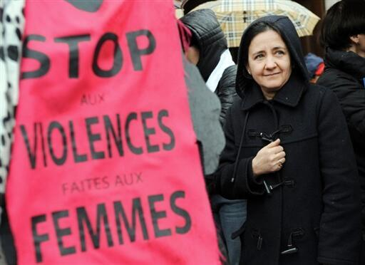 A demonstration in Toulouse to denounce violence against women on International Women's Day, November 25 2008