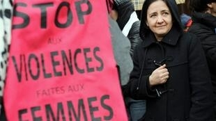 Demonstrators in Toulouse, southern France, call for an end to violence against women.