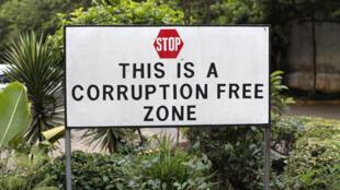 Un panneau anti-corruption à la sortie de Nairobi, au Kenya (photo d'illustration).