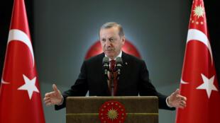 O presidente turco, Recep Tayyip Erdogan, durante discurso em Ancara no dia 26 de junho de 2016.
