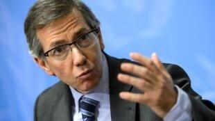 Le représentant du secrétaire général des Nations unies pour la Libye, Bernardino Leon, le 14 janvier 2015, à Genève.