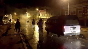 Nuit d'émeutes du 16 au 17 janvier à Siliana (Tunisie).