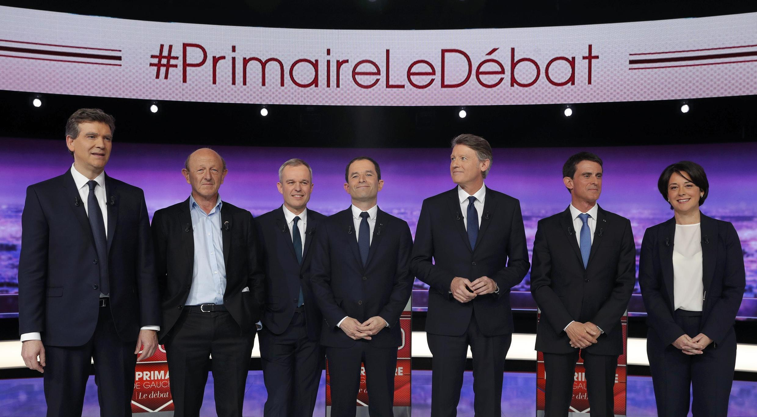 The seven candidates to be Socialist-backed presidential candidate before the debate