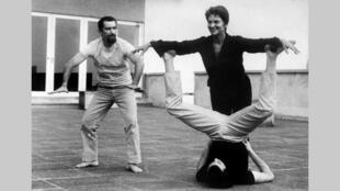 """Maria Casarès en 1968, alors qu'elle répétait le ballet """"Nuit obscure"""" avec Maurice Béjart, spectacle programmé au Festival d'Avignon cette année-là."""