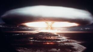 2019-12-02 france essai nucléaire français à Mururoa Polynésie 1971