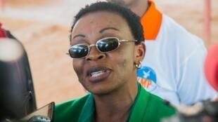 L'opposante Victoire Ingabire lors de sa libération le 15 septembre 2018 à Kigali.