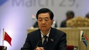 去年三月,时任中国国家主席之职的胡锦涛出席在新德里召开的金砖国家峰会,在会议上他表情严肃。