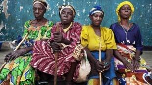 Mulheres deslocadas de guerra, em Goma, na RDC
