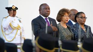 Shugaban Kasar Afrika ta Kudu Cyril Ramaphosa yayin rantsuwar soma aiki a  Cape Town, , 16 ga watan Fabareru 2018