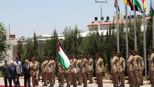 Ceremony at the Muqata to welcome Joachim Gauck's visit