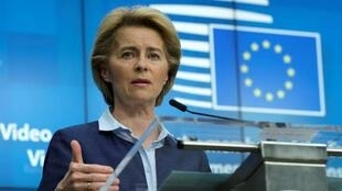 La présidente de la Commission européenne, Ursula von der Leyen, le 23 avril