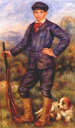نقاشى ژان رنوار كشيده شده توسط پدرش آگوست رنوار