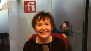 La romancière française Chantal Pelletier (en studio à RFI, mai 2019).