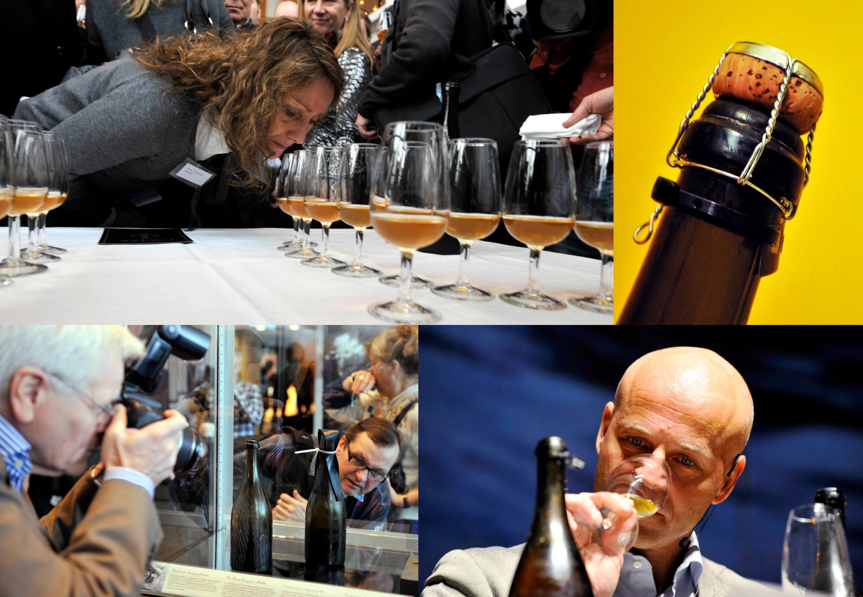 A degustação foi feita diante de uma centena de jornalistas e amadores de vinho.