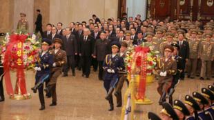朝鮮2月16日隆重紀念金正男與金正恩的父親金正日冥誕