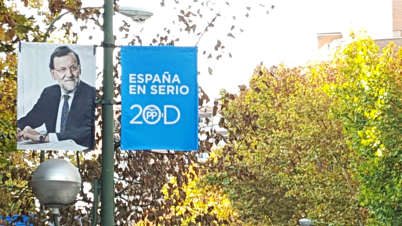 Mariano Rajoy, presidente del gobierno saliente y candidato del Partido Popular.