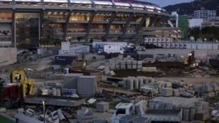 Le stade Maracana (Rio de Janeiro) en plein travaux pour la prochaine Coupe des Confédérations et surtout la Coupe du Monde 2014. 30-05-2013