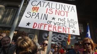 Demonstration on Catalan National Day in Barcelona, 11 September, 2012