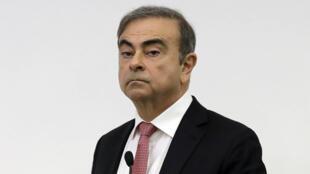 El expresidente fugitivo de Renault-Nissan, Carlos Ghosn, el 20 de mayo de 2020 en Beirut, Líbano