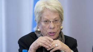 Carla Del Ponte, membro da Comissão Internacional de Investigação Independente na Síria.