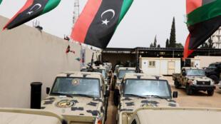 Carros confiscados ao general Haftar e aos seus soldados em Zawiyah, 5 de Abril l 2019.