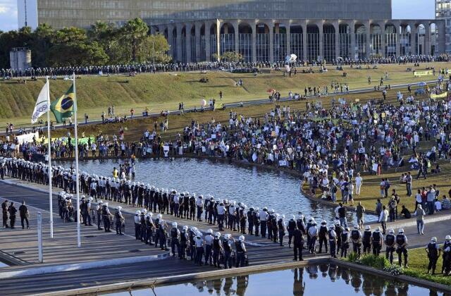 Manifestação na Esplanada dos Ministérios em Brasília, 26 de junho de 2013
