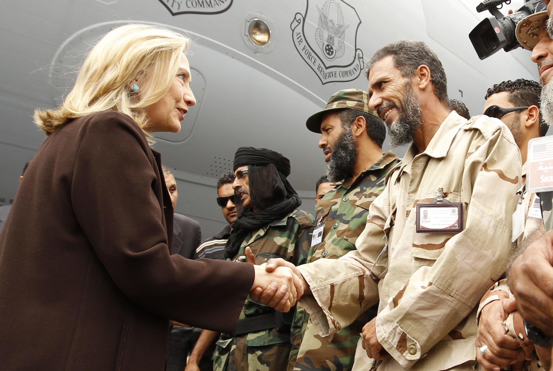 Госсекретарь США Хиллари Клинтон в Триполи 18/10/2011